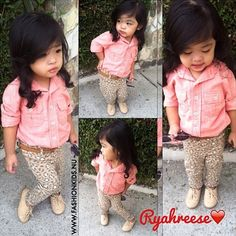 Omg this girl is stinking to cute to handle!! #kids #look #toddler #infant #pretty #baby #girl #fashion #style #inspiration #clothes #glam #chic #swag #shoes