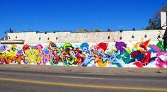 Graffiti wall in Detroit (Michigan)