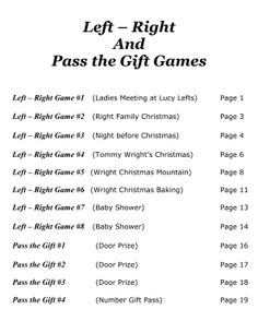 Pass The Gift Game, Stories And Also Poems (not Left/right) · Trivia Games IcebreakerWomenu0027s ...