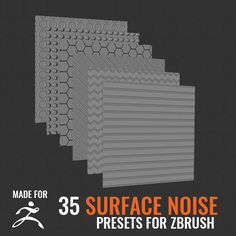 35 Surface Noise for ZBrush 4R7, Omar Chelos on ArtStation at https://www.artstation.com/artwork/qZgwz