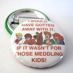 Scooby Doo Photo Pinback Button or Magnet #scoobydoo #fridgemagnet