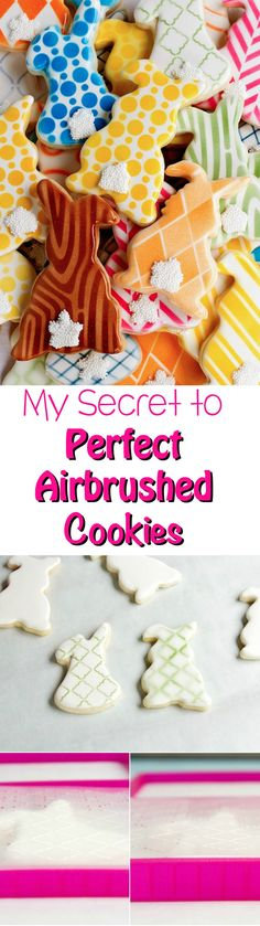 My Secret to Perfect Airbrushed Cookies via www.thebearfootbaker.com