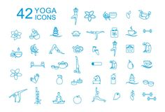 Spa and linear yoga icons by Svetlana Voloshina on Creative Market