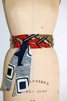 Reversible African wax print belt, sash or headwrap African Prints, African Fabric, African Inspired Fashion, African Fashion, African Accessories, Joyful Noise, Love Fashion, Womens Fashion, Kitenge