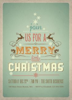 Christmas Invitation ditch the type, love the embellishments and bg