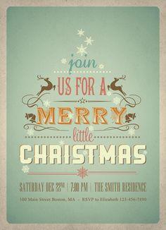 Christmas Invitation, Pretty