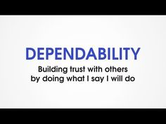 (G7) Dependability - Character Trades. Character traits games for kids. - YouTube