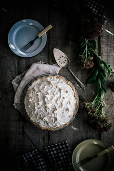Sorghum Meringue Pie, Beth Kirby for Home & Hill Magazine Local Milk, Dark Food Photography, Think Food, Meringue Pie, So Little Time, Sweet Recipes, Cake Recipes, Food Pictures, Food Styling