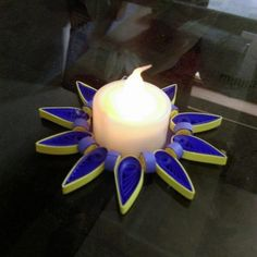 Paper Quilled Handmade Candle Holder for #Diwali. #crafts #festival