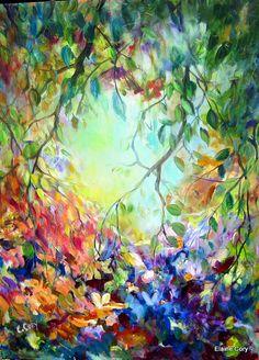 Tree Landscape Original Acrylic Painting 30 x by ElainesHeartsong, $700.00