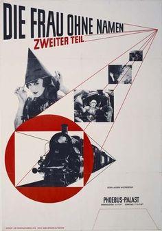 Jan Tschichold - poster for Dir Frau Ohne Namen (1927)