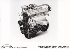 Toyota lean burn engine 1.6i (works photo, NL)