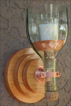 Hanging Repurposed Wine Bottle Flower Vase Set, Elegant Decor, Home D…