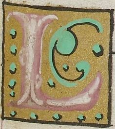 Small decorated initial from the Psalter of Henry VIII (British Library Royal MS 2 A XVI), c1540-1541, letter L f146r