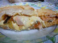 Calzon berenjenas jamon queso tomate