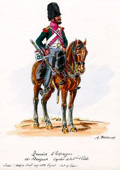 French; 15th Dragoons, Elite Company Dragoon in Spain by H.Boisselier