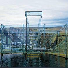 Glass home by Italian design duo Santambrogio (Carlo Santambrogio & Ennio Arosic) - Two homes, entirely constructed of a blue hued glass.