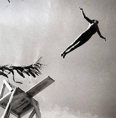 The Diver, Las Delicias, Taxco, 1943 by Fritz Henle