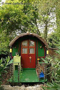 Old Stone Cabin | caravan # gypsy # bohemian # colorful