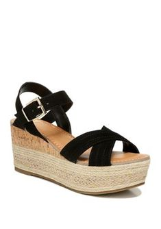 14 Best Black wedge sandals images | Black wedge sandals