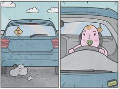 Anton Gudim is a Russian artist and illustrator who draws very funny but clever comics. Through these illustrations, Anton is cleverly mocking the modern Anton, Illustrations, Graphic Illustration, Panda Dog, Down Syndrome Kids, Small Drawings, Sad Stories, Humor Grafico, Sarcastic Humor