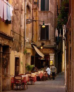 Sidewalk Cafe, Venice, Italy