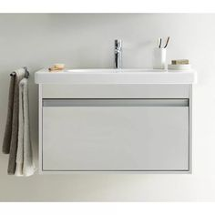Get up to off on this contemporary Duravit Ketho 1 Drawer Unit With Starck 3 Basin. MPN of the product are Wall Mounted Bathroom Sinks, Vanity Set With Mirror, Single Sink Bathroom Vanity, Wall Mounted Vanity, Small Bathroom, Bathrooms, Single Vanities, Bath Vanities, Bathroom Ideas