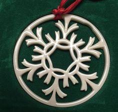 "Vintage Lenox Snowflake Ornament ""Silver Frost"" | eBay"