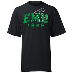 EMU Eastern Michigan Distressed Logo Tee AT Campus Den