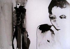 Culpabilité (Drawing),  30x21 cm par Sylvia Baldeva encre de chine sur papier  Prix sur demande