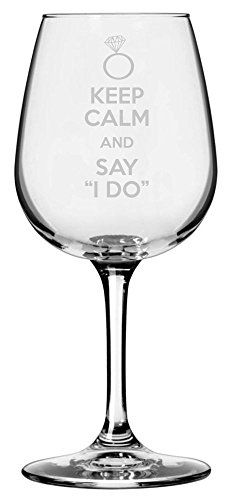 Keep Calm and Say I Do Etched All Purpose 1275oz Libbey Wine Glass -- You can find out more details at the link of the image.