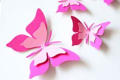Pink Decorations - Kids Party Supplies - Pink wall art - Paper ...
