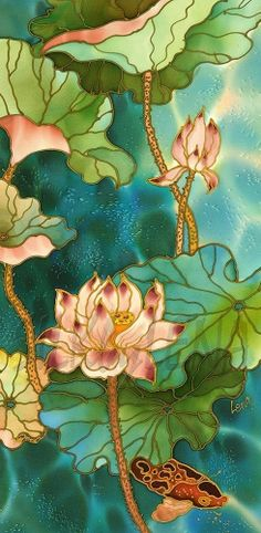 paintings on silk