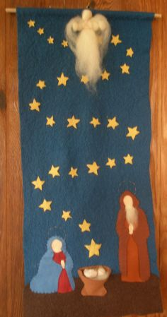 Nativity Advent Calendar. The Christ child descends through the stars to the manger, creating a meaningful way to count the days until Christmas morning.