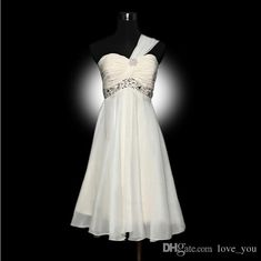 Attractive Cheap Under $50 Ruched A Line One Shoulder Strapless Knee Length Bridesmaid Dress Custom Made Bridesmaids Dresses Lace Wedding Dress From Love_you, $39.1| Dhgate.Com