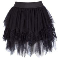 Ichi Lumu Lace Skirt found on Polyvore