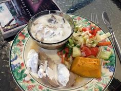 Faiai Ia: Fish with coconut milk (plus Taro, pumpkin and salad). Do you know which country makes this amaaaazingly delicious dish? -Bex