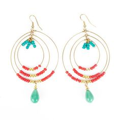 Concentric Oval Earrings now featured on Fab.