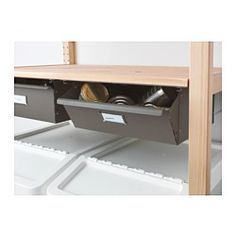 IKEA - IVAR, Drawer, You can assemble the drawer in two ways: with a completely closed or slightly open front.