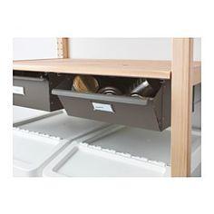 IVAR Schublade, grau - IKEA