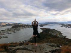 "Yoga Poses Around the World: ""Tree Pose in Alesund, Norway"""