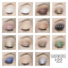 Ladies, let's talk ShadowSense. I love it almost as much as LipSense!!! It's waterproof and smudge proof and goes on so smooth. It's a creme to powder finish.... once dry can be blended/layered with your regular eyeshadows if you choose.  They just released several shades available to order today ❤️❤️❤️❤️ Check out my site to order  Senegence.com/thelipchiccafe