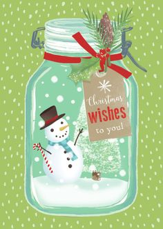 Claire Mcelfatrick - Christmas Snow Jar Snowman