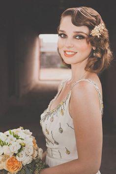 25 Chic Art Deco Wedding Hair Ideas   HappyWedd.com