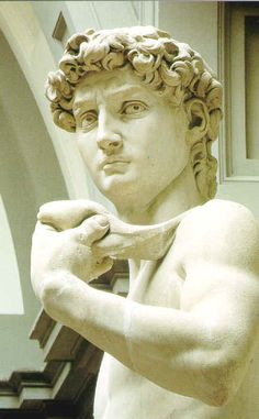 Michaelangelo - David: everyone needs to see this statue in person in the city of Firenze. It is overwhelming, breathtaking beauty.