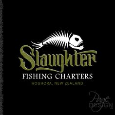 Logo design for Slaughter Fishing Charters, New Zealand