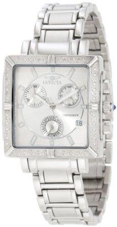 Invicta Women's 5377 Square Angel Diamond Stainless Steel Chronograph Watch: Watches: Amazon.com