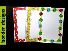 Quick 2 draw Border designs on paper for project work by easy designs for project project designs for school ---------------------------------------. Doodle Borders, Borders For Paper, Borders And Frames, Page Borders Design, Border Design, Line Design, Creative Crafts, Diy And Crafts, Paper Crafts