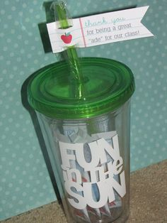 Great gift for an aide in the classroom.  :)