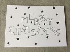 Chrismas Cards, Diy Holiday Cards, Merry Christmas Card, Xmas Cards, Diy Cards, Happy New Year Cards, Happy Birthday Cards, Christmas Envelopes, Cute Easy Drawings
